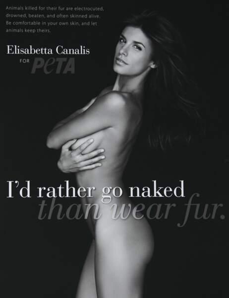 Elisabetta Canalis pour la Peta