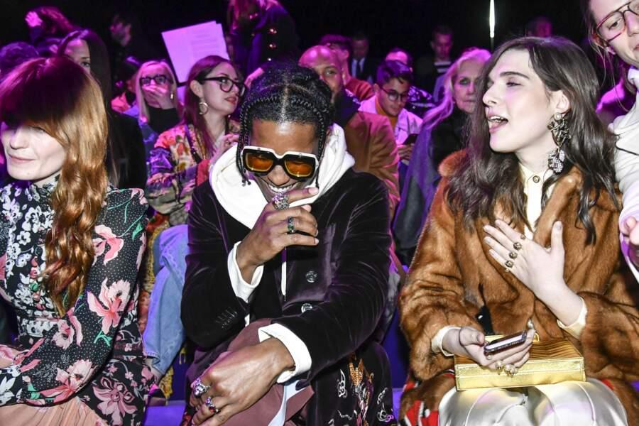 Défilé Gucci : Florence Welch, Asap Rocky et Hari Nef