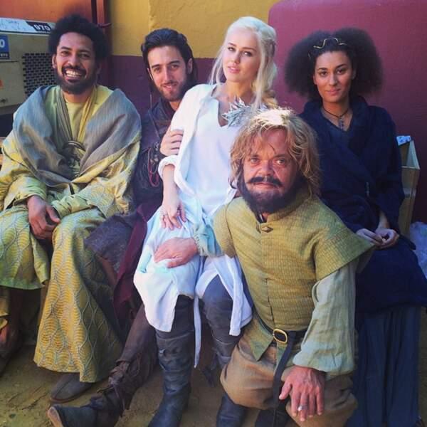 Rosie avec les doublures d'Hizdahr, Daario, Missandeï et Tyrion