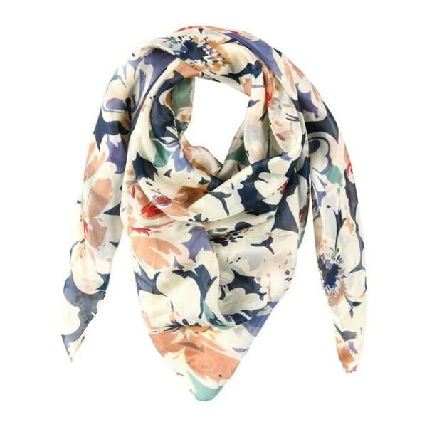 Foulard en soie imprimé fleurs, Tie Rack sur La Redoute, 35,95€