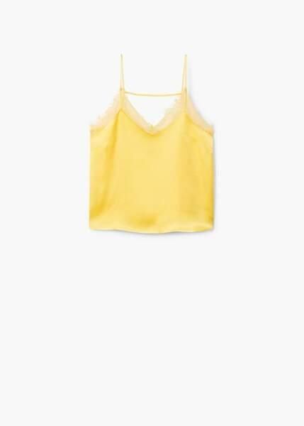 Top lingerie en dentelle, Mango, 17,99€au lieu de 29,99€