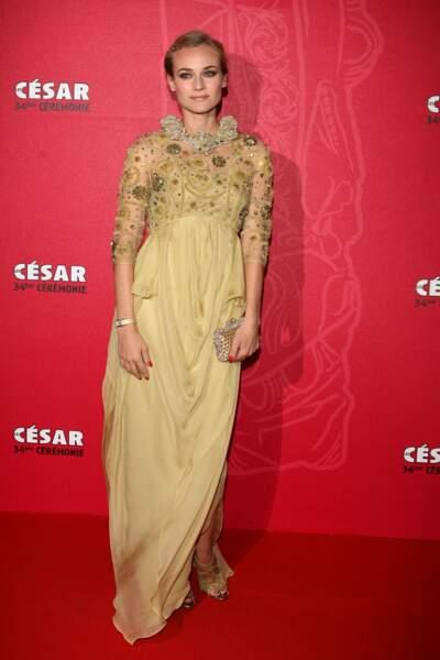 En 2009, Diane Kruger était très belle dans la robe de nuit de Marie de Médicis.