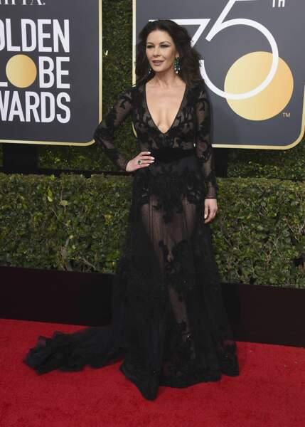 Catherine Zeta-Jones lors de la 75e cérémonie des Golden Globes, le 7 janvier 2018