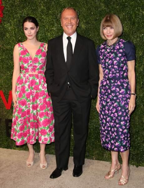 Bee Shaffer, la fille d'Anna Wintour, le créateur Michael Kors et Anna Wintour
