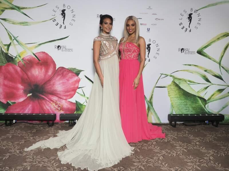 """Alicia Aylies et Vaimalama Chaves à la soirée de Gala de l'association """"Les Bonnes Fées"""", Paris"""