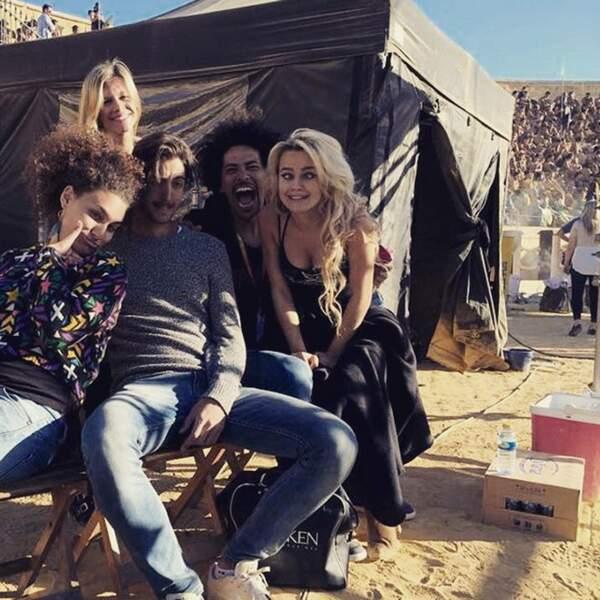 Avec ses amis sur le tournage de Game of Thrones