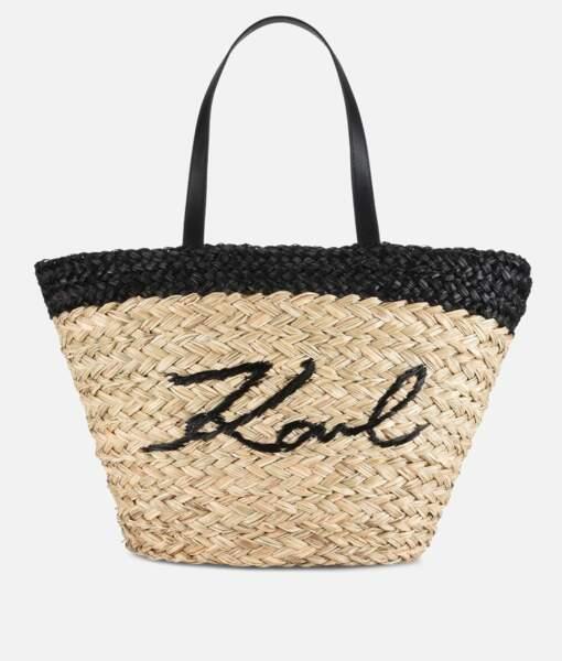 Karl Lagerfeld, cabas en paille, 125 €