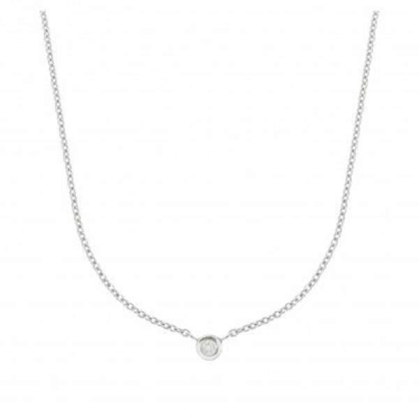 Collier fantaisie en argent garanti serti d'un diamant, Balaboosté, 79 euros