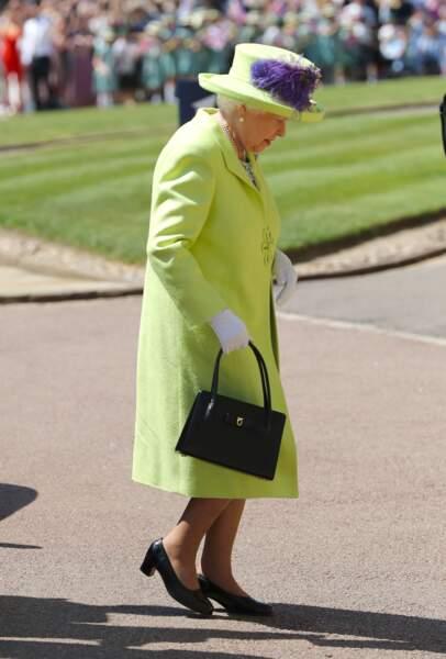 Royal wedding : l'arrivée de la reine Elisabeth II