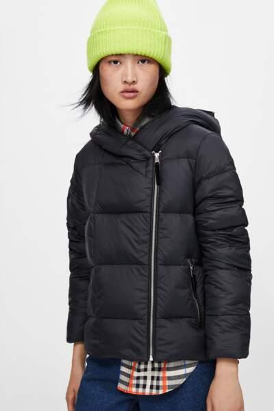 Doudoune XXL noire, Zara, actuellement à 39,99€