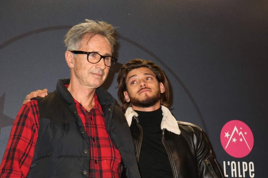 Thierry Lhermitte et Rayane Bensetti au Festival international du film de comédie de l'Alpe d'Huez