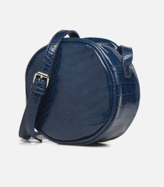 Mini sac rond effet croco, Pieces, 34,99€ sur Sarenza