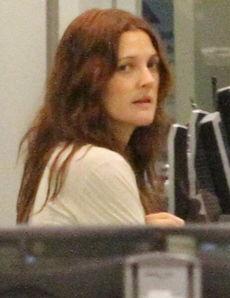 Drew Barrymore à l'aéroport