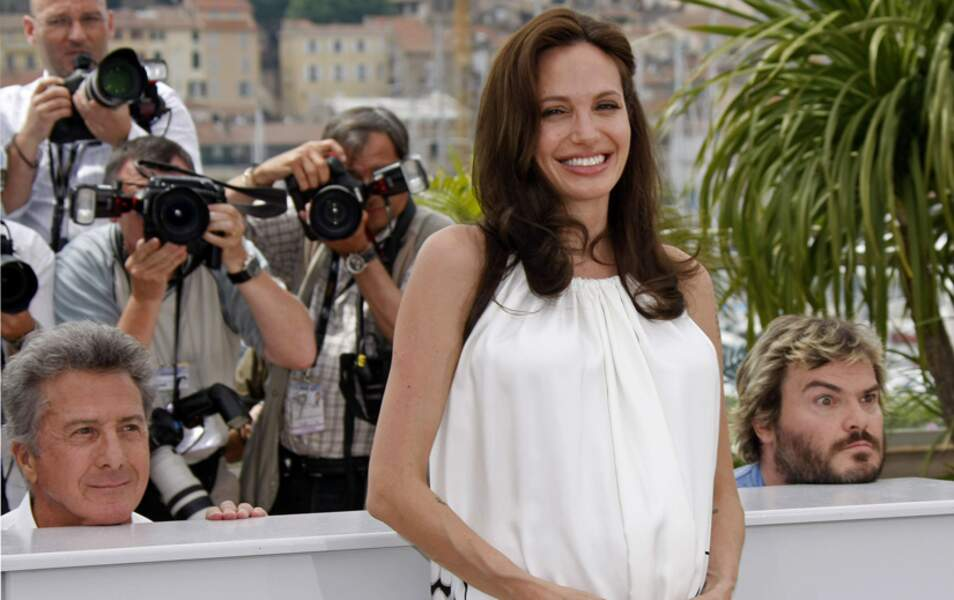Angelina Jolie, photobombée par Dustin Hoffman et Jack Black