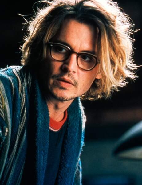 Johnny Depp en 2003 sur le tournage de Fenêtre secrète