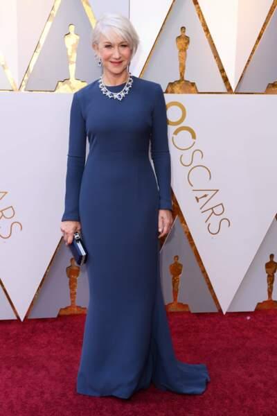 Helen Mirren à la 90e cérémonie des Oscars, à Los Angeles le 4 mars 2018