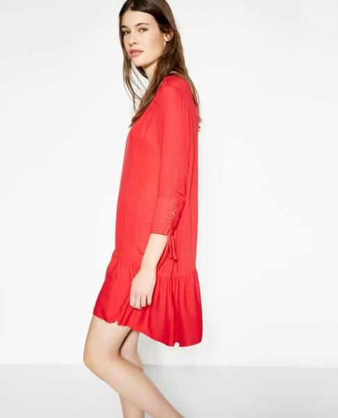 Robe viscose rouge, The Koople, actuellement à 74€