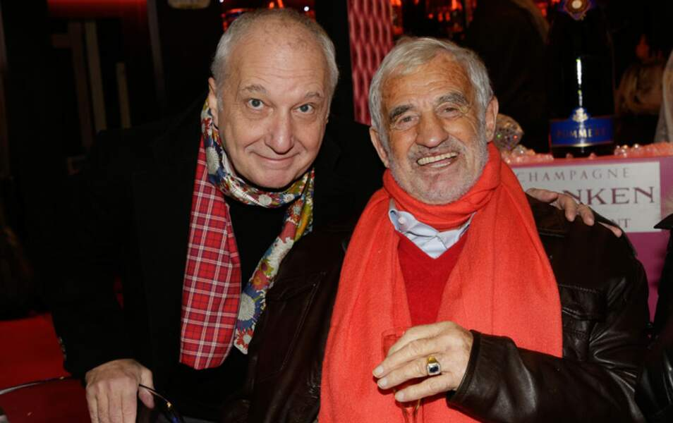 Jean-Paul Belmondo, confortablement installé, a reçu la visite de François Berland
