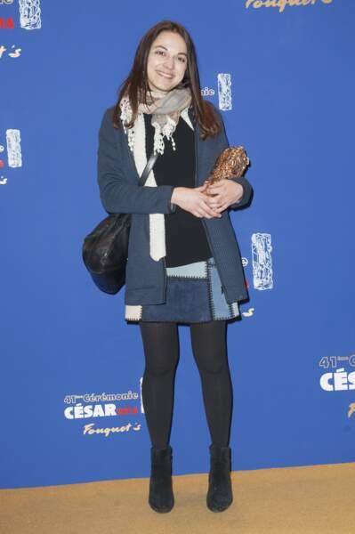 Mathilde Van de Moortel en 2016 mais avec un look (de lycéenne) de 2002