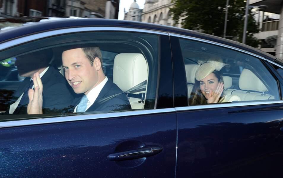 Le prince William et Kate Middleton ferment la marche