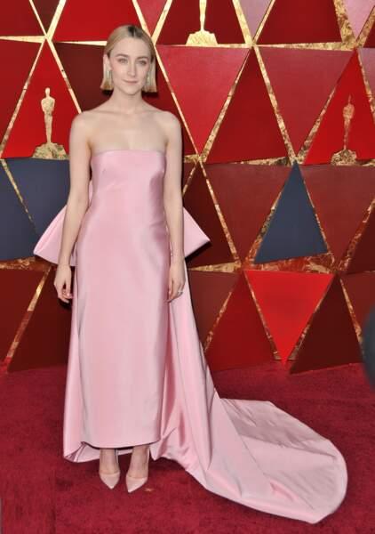 Saoirse Ronan à la 90e cérémonie des Oscars, à Los Angeles le 4 mars 2018