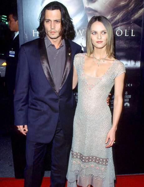 Johnny Depp et Vanessa Paradis en novembre 1999