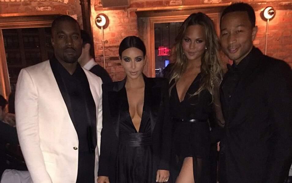 Kim et Kanye étaient invités à l'anniversaire de Kanye West