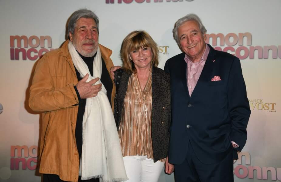 Jean-Pierre Castaldi, Evelyne Gelin et Jean-Loup Dabadi à l'avant-première de Mon Inconnue, le 1er avril, à Paris