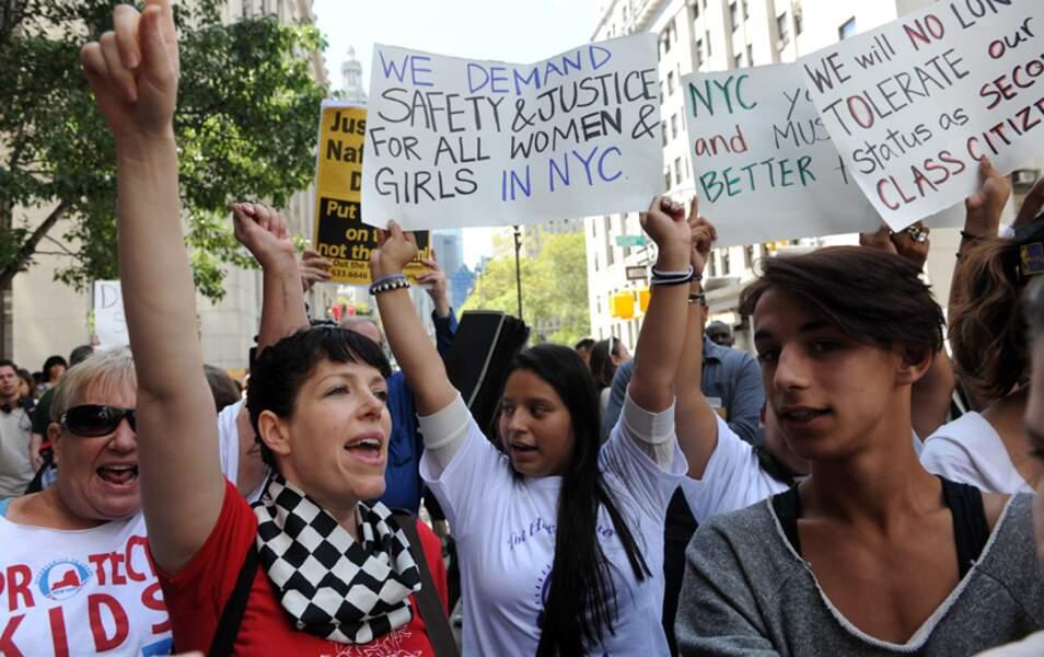 Les manifestantes de New York, lors de l'affaire DSK