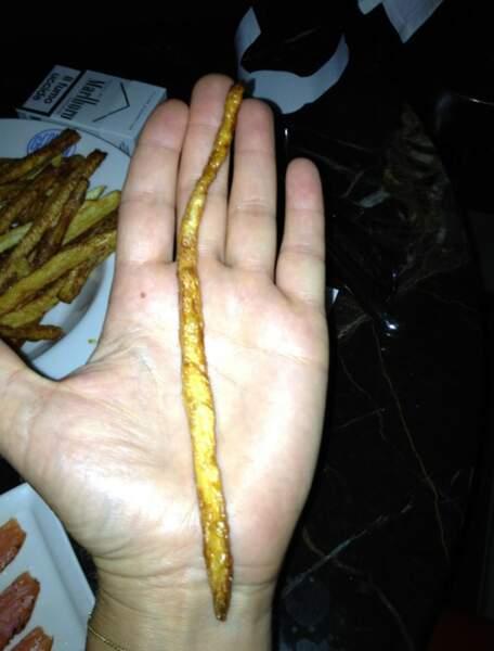 C'était un gaspacho, et ça, c'est une grosse frite