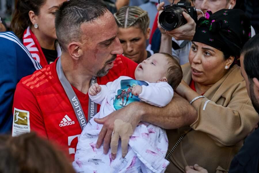 Franck Ribéry, sa femme Wahiba et leur fille Keltoum