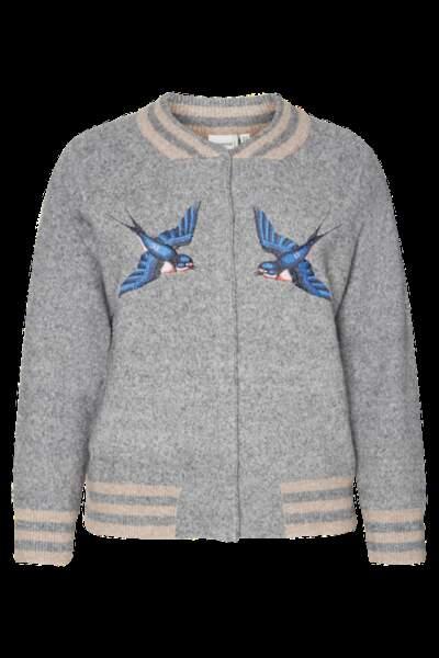 Bomber oiseaux, Junarose sur Pampleon, soldé 39 euros