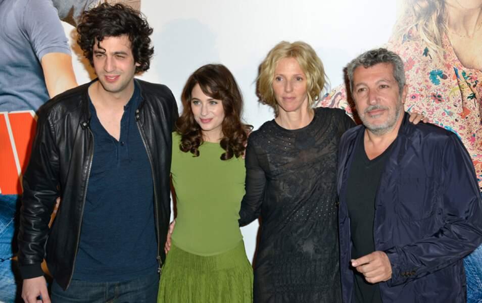 Max Boublil, Mélanie Bernier, Sandrine Kiberlain et Alain Chabat