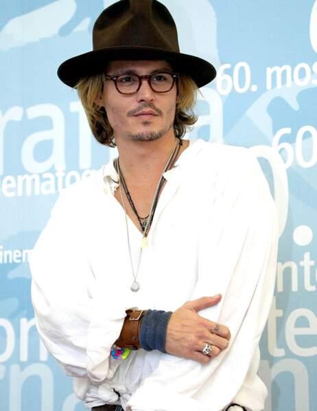 Johnny Depp en août 2003