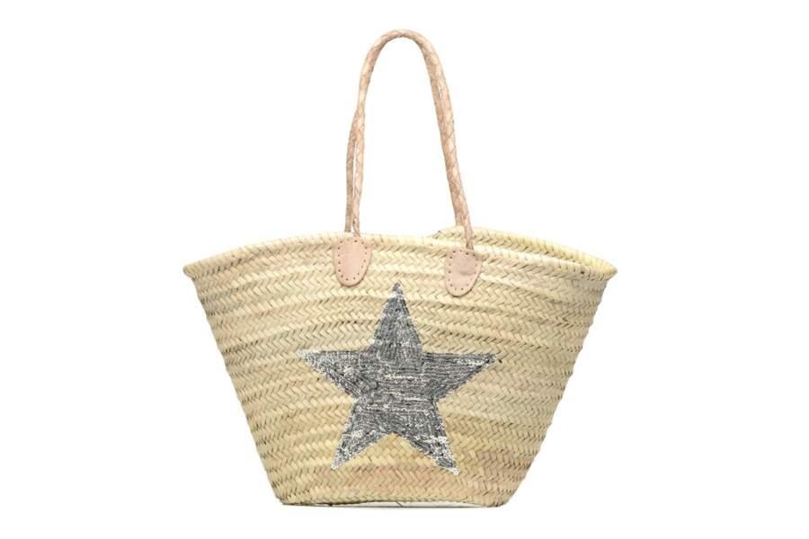 Etincelles sur Sarenza.com, panier artisanal avec étoile Argent, 60 €