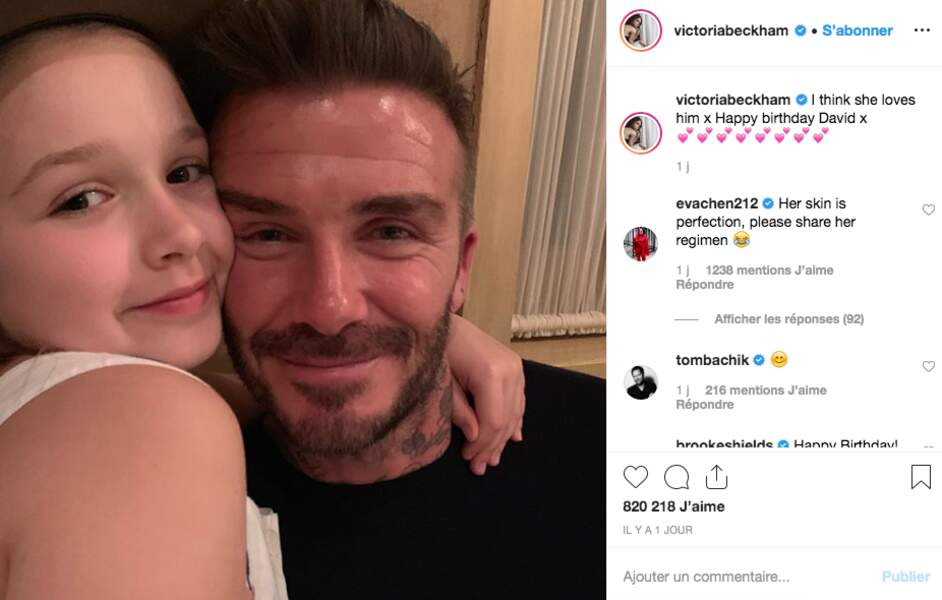 David Beckham et sa petite dernière, Harper