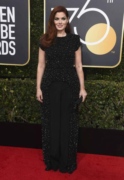 Debra Messing lors de la 75e cérémonie des Golden Globes, le 7 janvier 2018