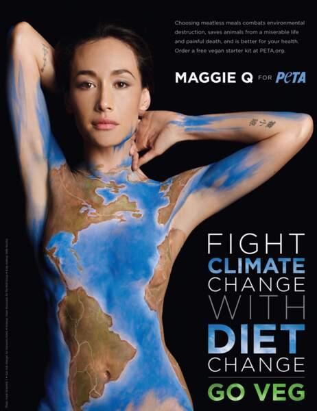 Maggie Q pour la Peta