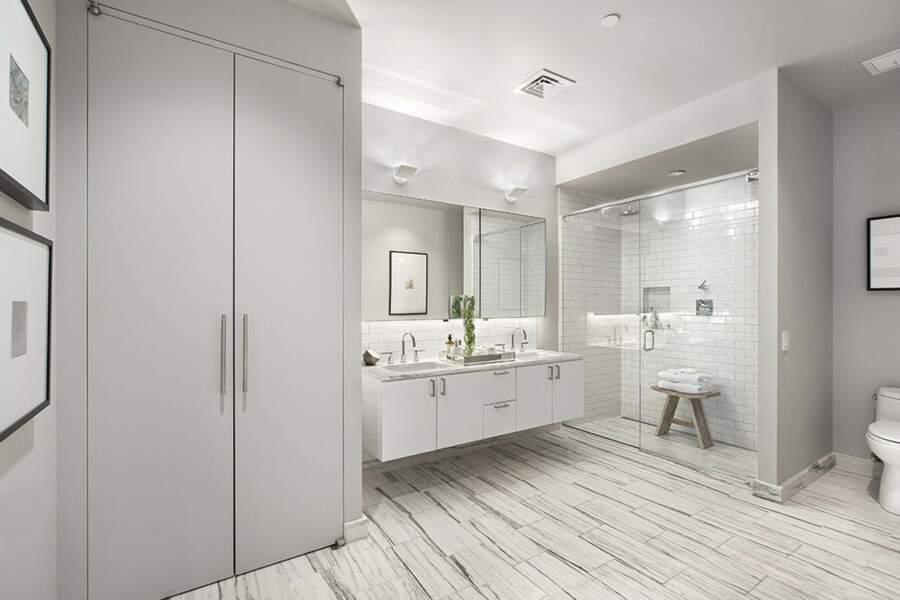 La salle de bain aux couleurs épurées
