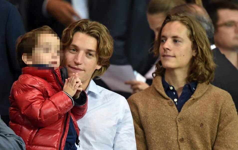 Jean Sarkozy, son fils Solal et son frère Pierre