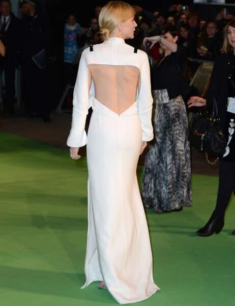 Cate Blanchett vue de dos