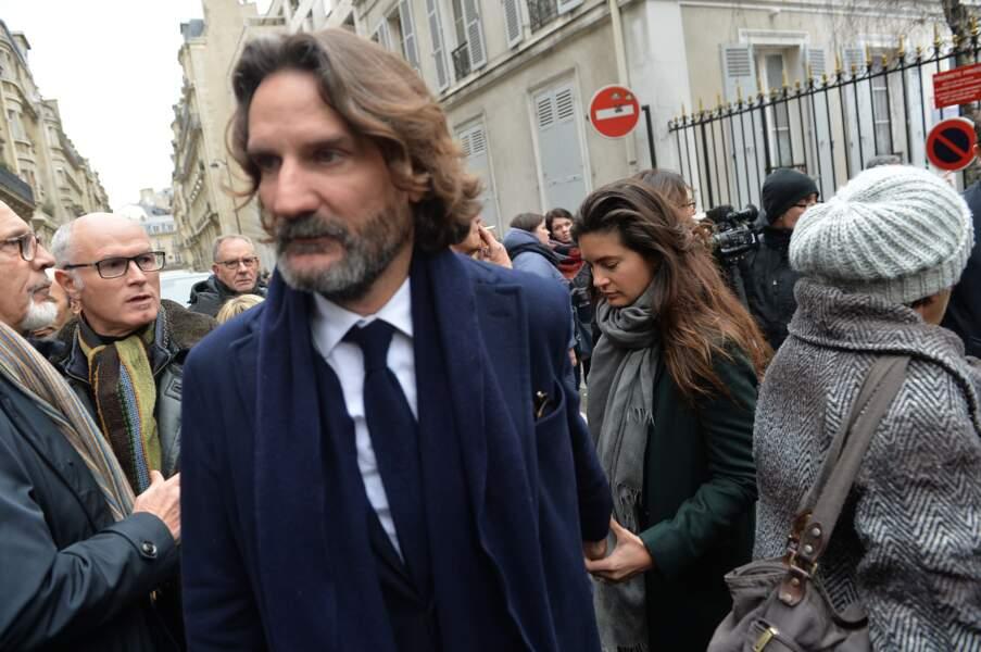Obsèques de Michel Legrand à Paris : Frédéric Beigbeder et sa femme Lara Micheli