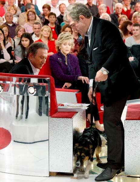 Michel Drucker, Jane Fonda et Izia