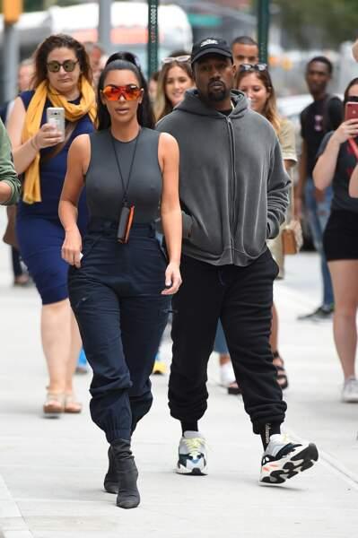 Kim Kardashian et Kanye West dans le quartier de SoHo, à New York