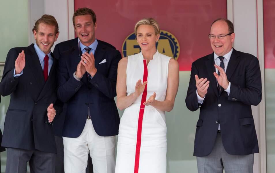 La famille princière, fière de son Grand Prix