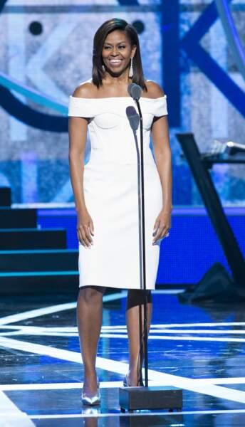Michelle Obama en Zac Posen