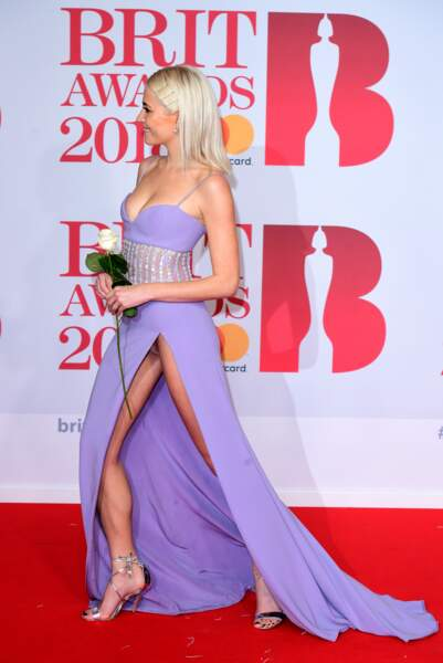 Pixie Lott aux Brit Awards 2018, le 21 février à Londres