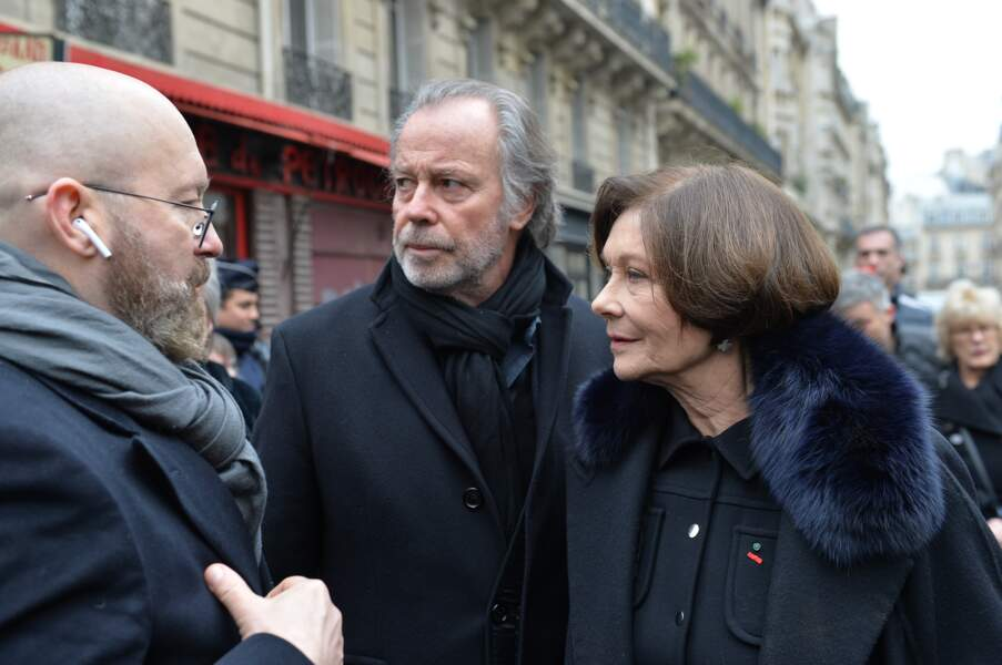 Obsèques de Michel Legrand à Paris : Michel Leeb et Macha Méril