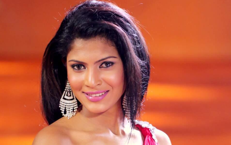 Miss Sri Lanka Iresha Asanki De Silva, 22 ans, 1m73