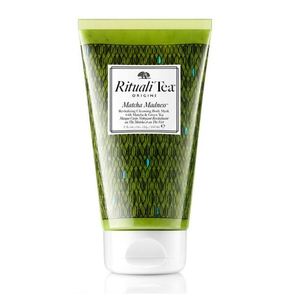 Masque corps nettoyant revitalisant au thé Matcha et thé vert, Origins Rituali Tea, 22,40 euros sur Feelunique.co